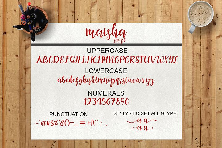 Maisha Script - Free Font of The Week Design 6