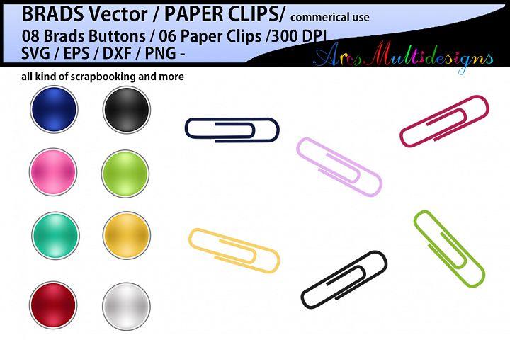 Digital Brads SVG vector / Brad ClipArt / digital paper clip