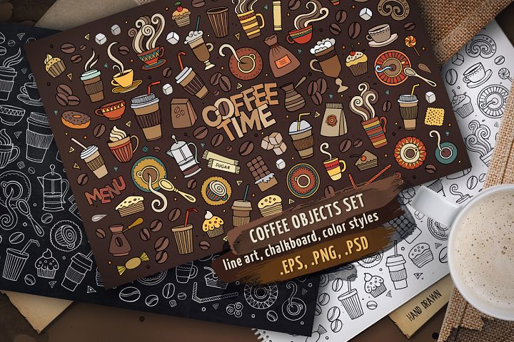 Coffee Objects & Elements Set