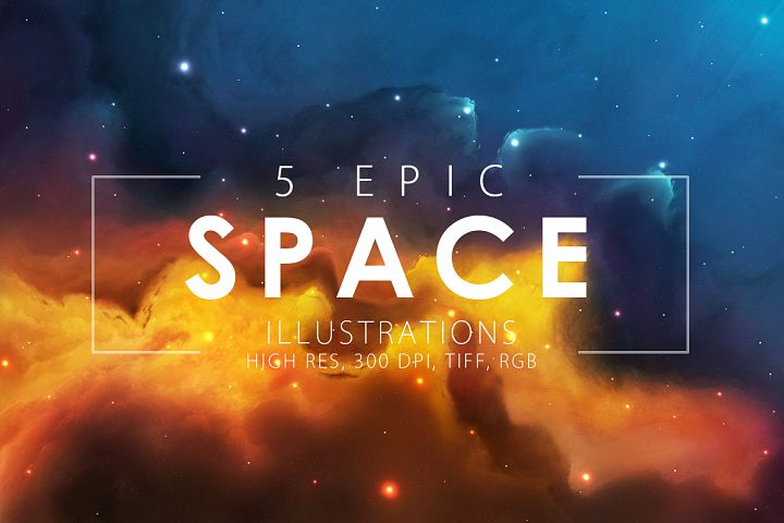 5 Epic Space Illustrations