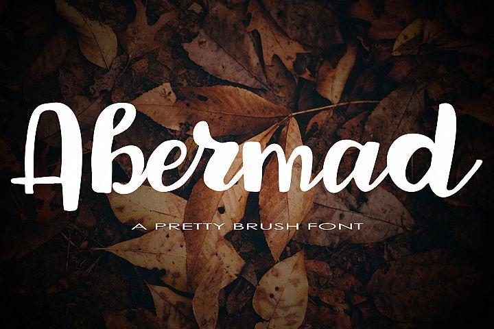 Abermad - brush font