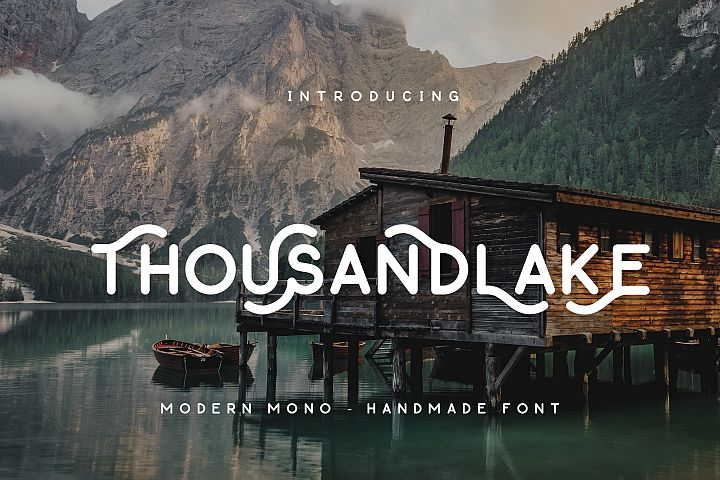 Thousand Lake - Handmade Font