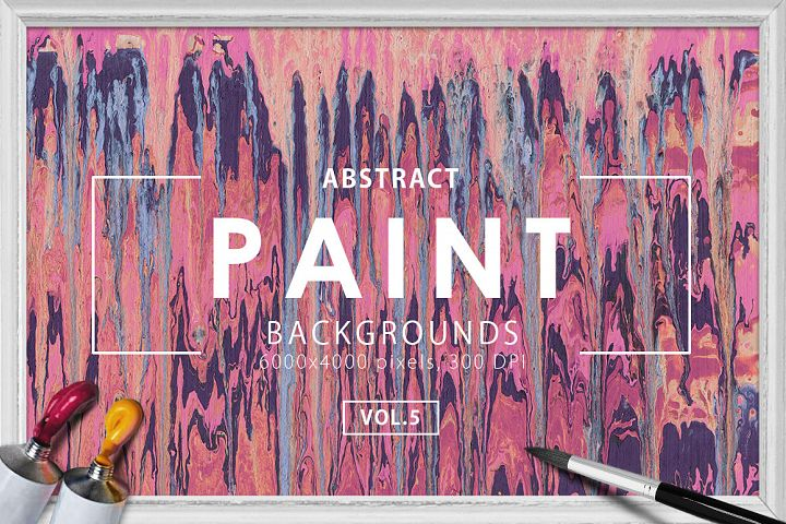 Abstract Paint Backgrounds Vol.5