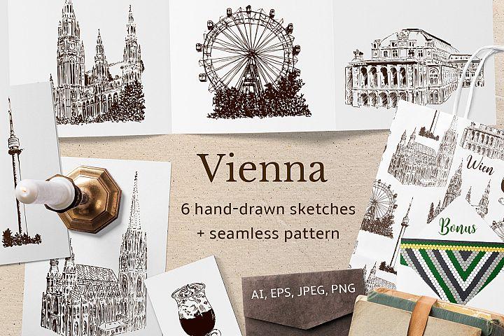 Set of Vienna sketches