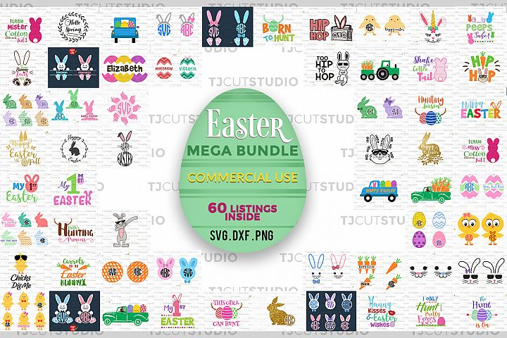 SVG BUNDLE ,Easter SVG Bundle, Happy Easter Bundle svg, Happy Easter, Files for Silhouette Cameo or Cricut, Commercial & Personal Use.