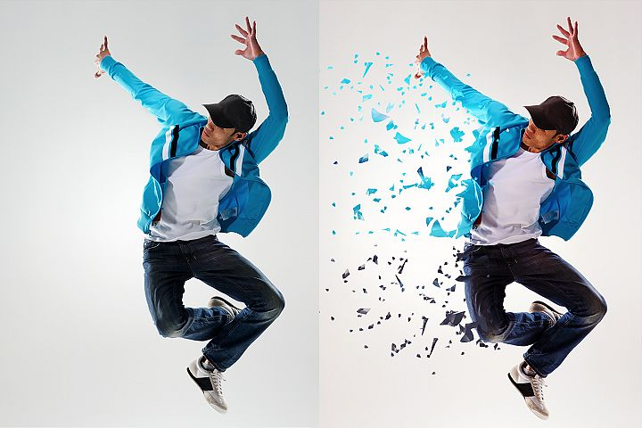 Dispersion Photoshop Action example 2