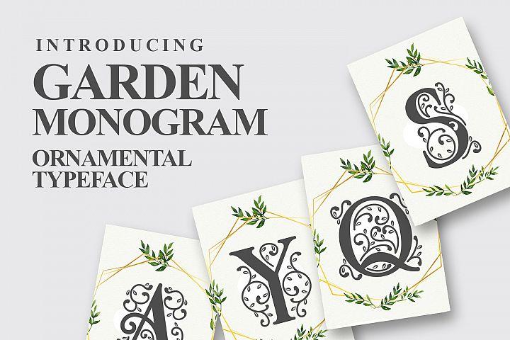 Garden Monogram Font