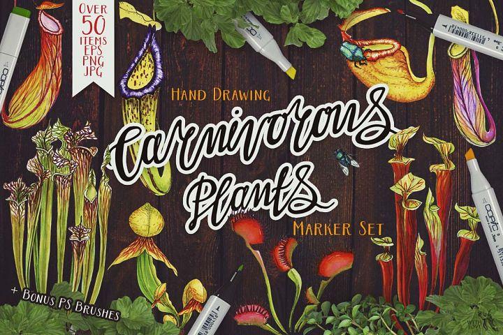 Carnivorous Plants Marker Set
