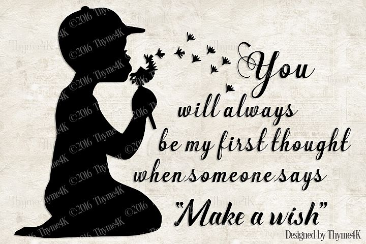 Make a Wish (boy) SVG Digital design