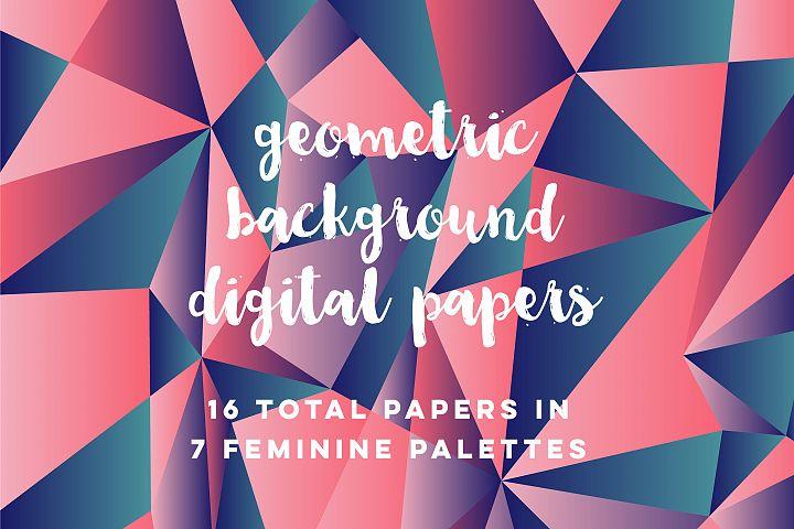 Feminine Geometric Backgrounds