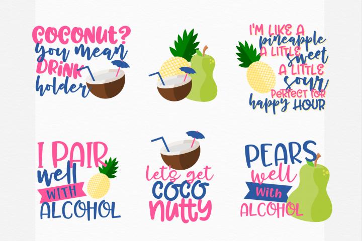 MINI BUNDLE - Fruit & Alcohol Puns