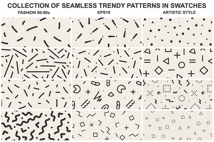 Memphis seamless patterns vol 3