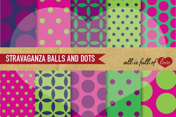 Aubergine Digital Paper Polka Dots Scrapbook Background Patterns