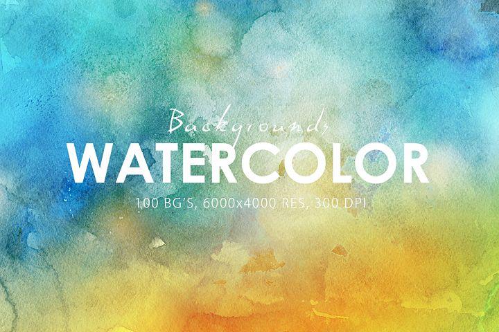 100 Watercolor Backgrounds Vol.1