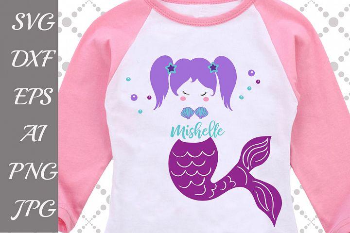 Mermaid Monogram Svg