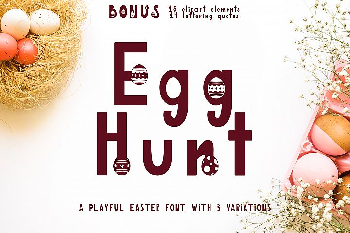 Egg Hunt-decorated font