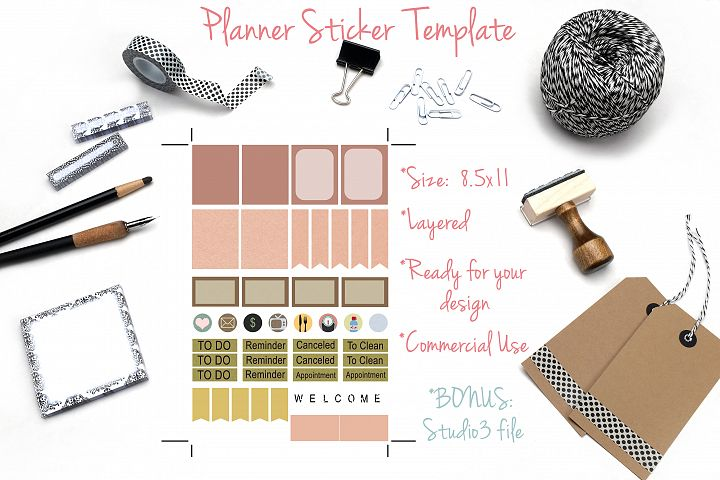 Planner Stickers Template 1