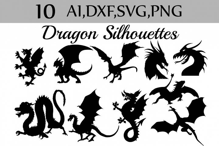 SVG Dragon silhouette clip art