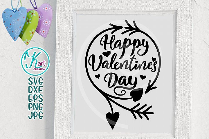 Happy Valentines day svg, Valentines day svg, Hand Lettered SVG, Silhouette Cameo, Valentines Day Cutting File, Valentines Day Printable png