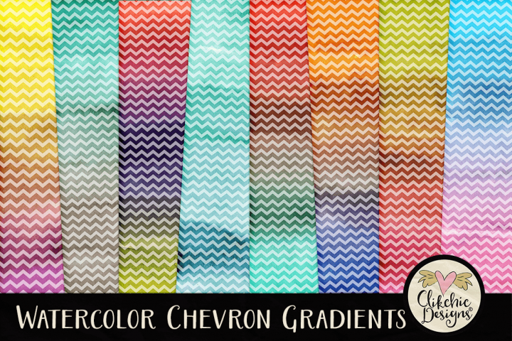Watercolor Chevron Background Textures