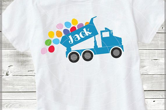Easter Truck with eggs - Easter Truck svg - Dump truck svg - Truck svg cutting files - Easter T shirt DIY - Svg - Dxf- Eps - JPG - Png