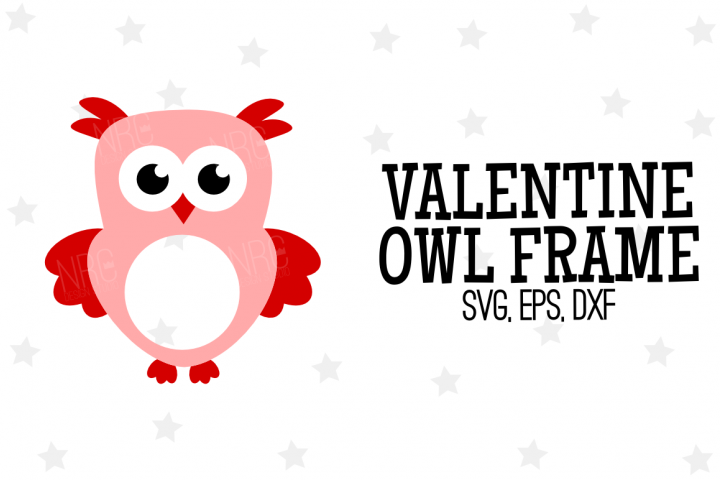 Valentine Owl Frame SVG File