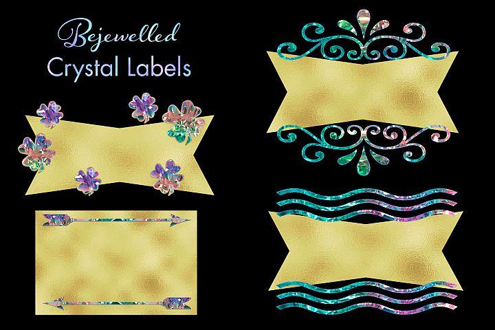 Bejewelled Crystal Labels