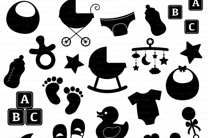 Baby Shower SVG Files First Birthday, new mom, newborn baby svg cutting files Cricut and Silhouette SVG dxf png jpg included