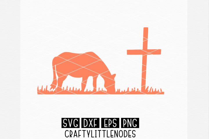 Horse at Cross SVG Design