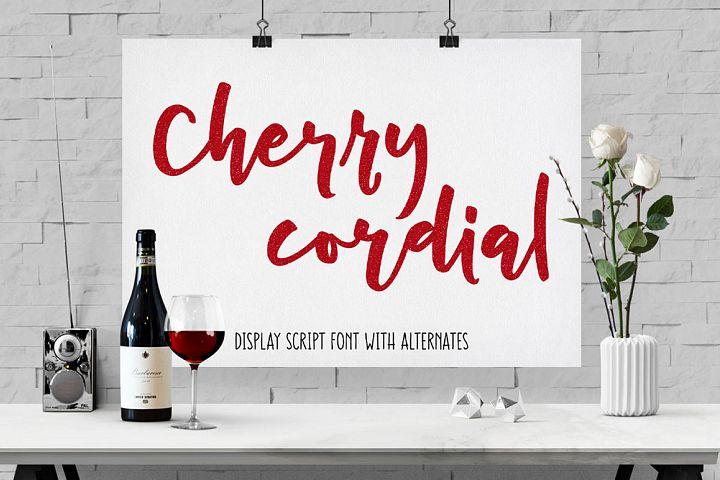 Cherry Cordial: script display font - Free Font of The Week