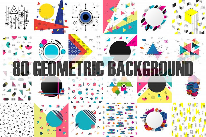 80 Square Geometric Background