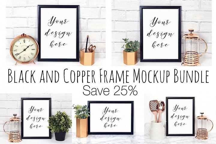 25% Off Black and Copper Frame Mockup Bundle