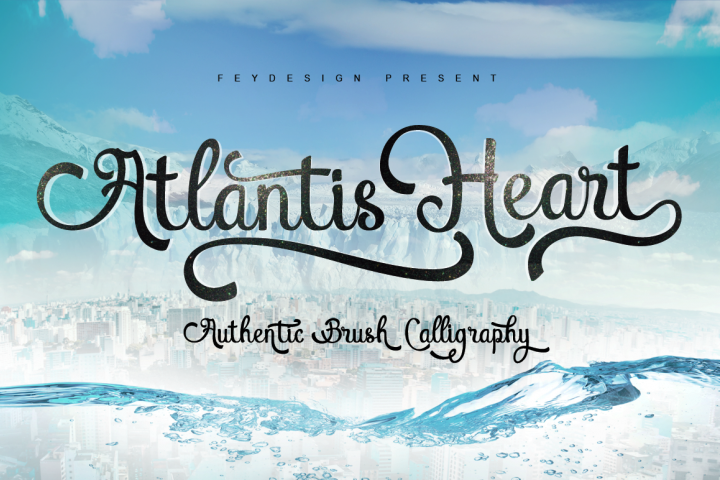 Atlantis Heart - Free Font of The Week