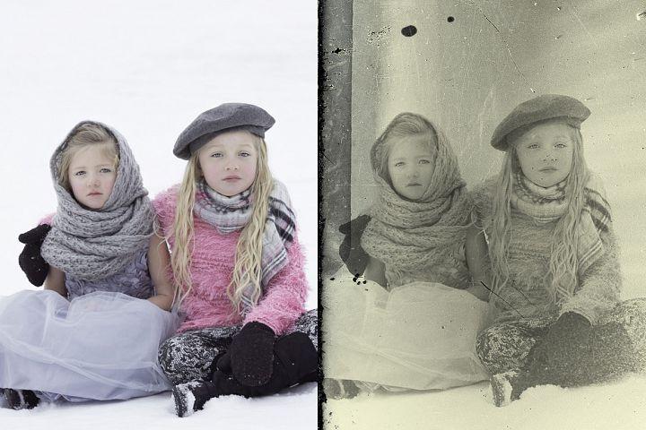 Vintage Old Photo Effect Overlays - Free Design of The Week Design 4