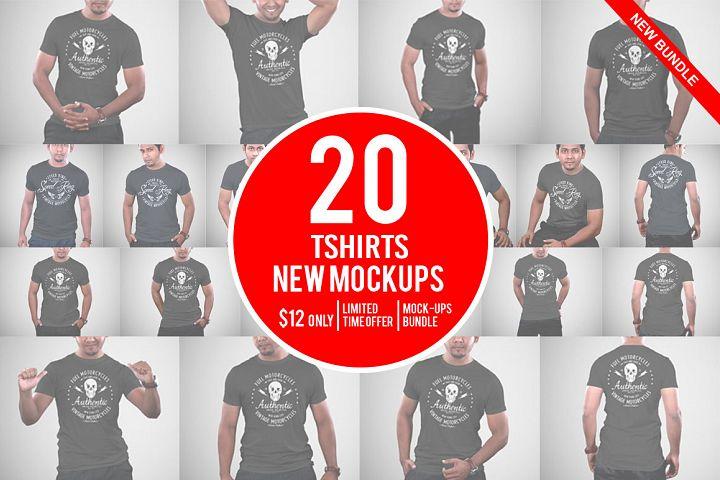 20 Tshirt Mockups Bundle