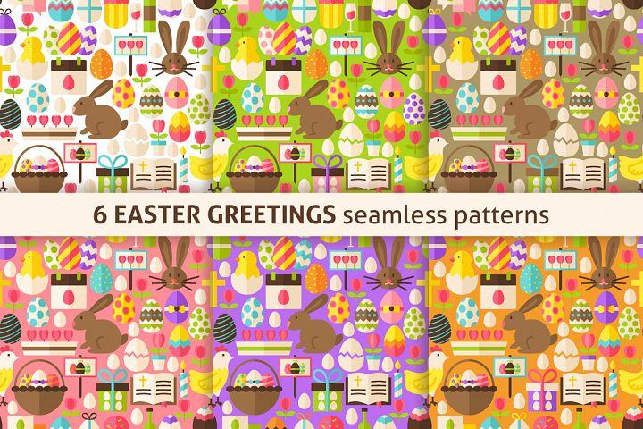 Easter Greetings Flat Tile Patterns