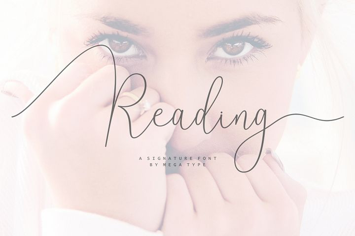 Reading Signatue Font