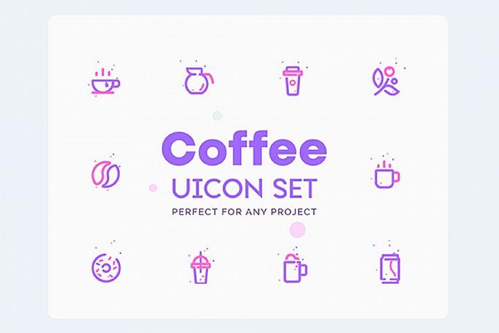 UICON - Coffee Shop Icons Set