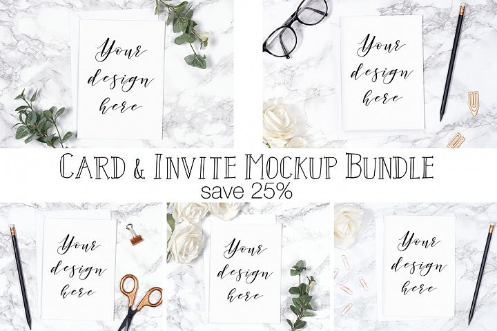 Card Mockup Bundle