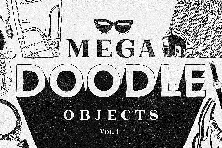 Mega Doodle Objects Vol.1