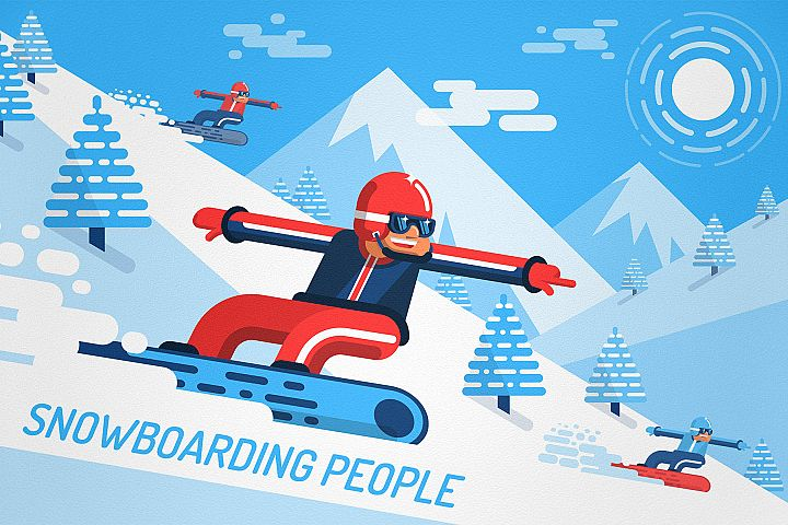 Snowboarding People