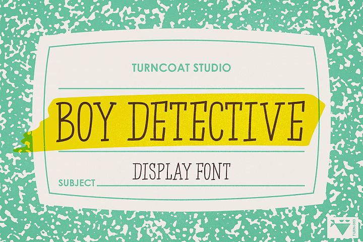 Boy Detective - Display Font