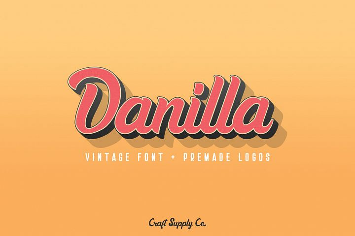 Danilla Font + Premade Logos