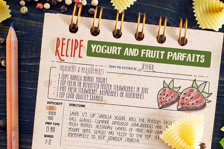 Recipe Daily - Free Font of The Week Design 3