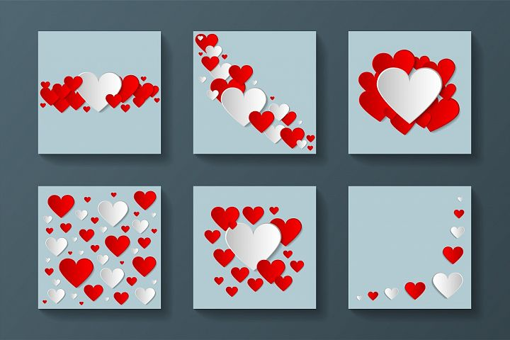 Collection of Valentine postcards