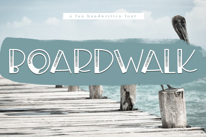 Boardwalk - A Fun Handwritten Font - Free Font of The Week