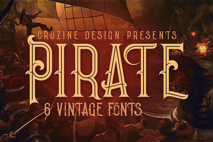Pirate- Vintage Style Font