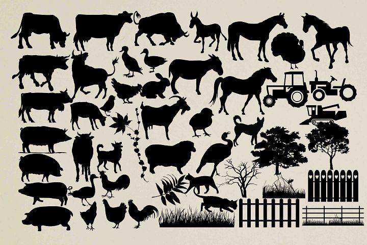 Farm animal silhouette PNG SVG EPS DXF