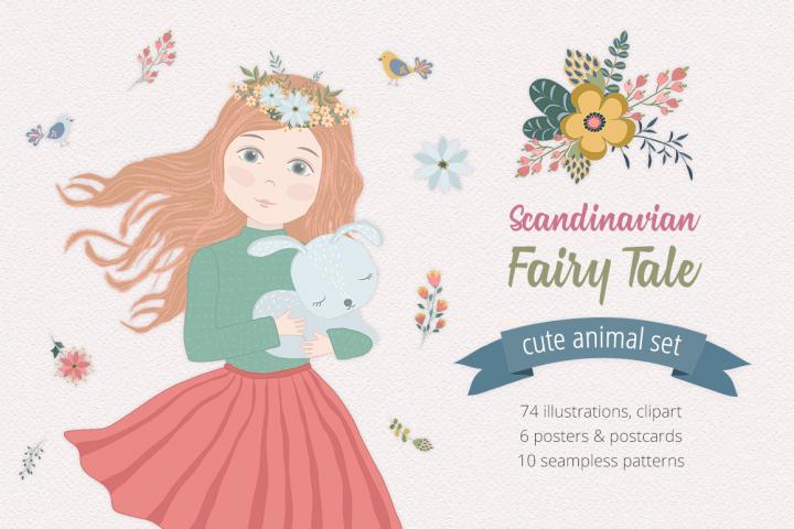Scandinavian Fairy Tale Illustration Set
