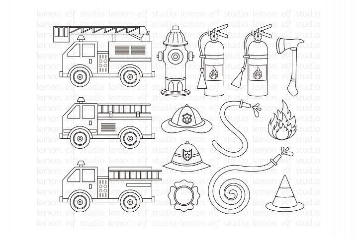 Fire Truck-Digital Stamp (LES.DS50)
